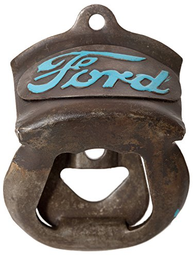 Antique Finish Vintage Ford Auto Car Wall Mounted Beer Soda Bottle Opener (Ford) ()