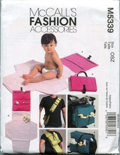 McCall's Sewing Pattern M5339 One Size Diaper Bags and Changing ()