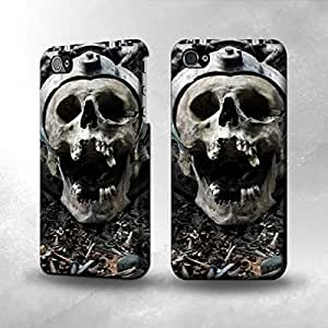 iPhone 5 / 5S Case - The Best 3D Full Wrap iPhone Case - Demon Skull Death Rock