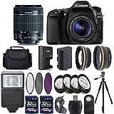 Canon EOS 80D Digital SLR Camera + 18-55mm IS STM Lens + 2 X 32GB + Telephoto + Wide-Angle Lens + 4PC Macro Kit + 3PC Filter Kit + Flash + Case + Tripod - International Version (No Warranty)