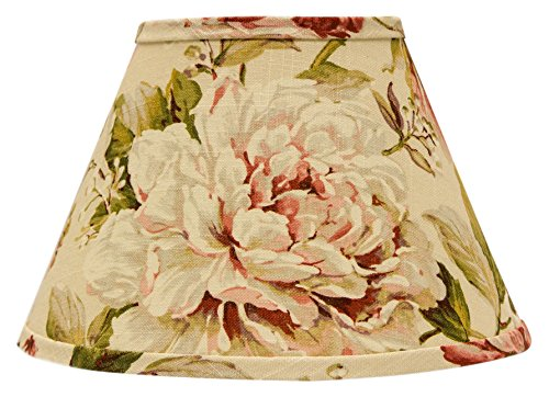 AHS Lighting SD1476-10RE Large Rose Floral Rectangle Lamp Shade with Regular Clip, 10''