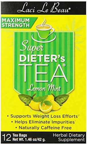 - Laci Le Beau Super Dieter's Tea, Maximum Strength Lemon Mint, 12 Tea Bags (Pack of 6)