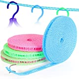 KUNGKEN Windproof Clothesline Outdoor Indoor Travel Drying Laundry Non-slip Washing Clothes Line Rope 16.4 FT