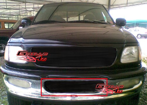 APS Fits 97-98 Ford F-150 4WD/Expedition Lower Bumper Billet Grille #F85038H ()