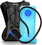 whistle buckle 1 2 - Aduro Sport 3L Hydration Backpack [Hydro-Pro], BPA Free Water Bladder, Unisex, Water Resistant, Durable, Light Weight, One Size Fits All. Great for Hiking, Running, Biking, Camping, Outdoors (Black)