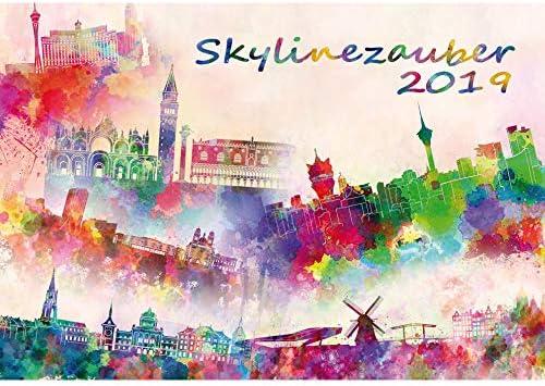 Carte Canada Avec Ville.Skylinezauber Ii Calendrier 2019 Amerique Asie Canada Europe