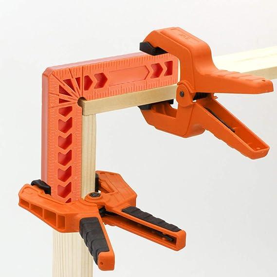 Wie abgebildet Matedepreso 90/° Positionierungswinkel L-f/örmig rechtwinklige Klemmen Eckklemme aus Aluminiumlegierung rechtwinkliger Klemmhalter Holzbearbeitung Zimmermannswerkzeug 100 mm