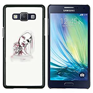 LECELL--Funda protectora / Cubierta / Piel For Samsung Galaxy A5 A5000 -- Mujer Android --