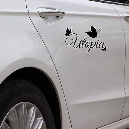 ZHOUHAOJIE Totem Auto Stickers Protector Solar A Prueba De Agua 17Cm * 10 5Cm Utopía con Adhesivos De Mariposa En Auto Calcomanías De Vinilo De Arte: Amazon.es: Coche y moto