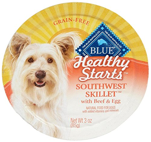 Blue Buffalo Healthy Start Dog Southwest Skillet Beef and Egg Food, 12 by 3 oz.