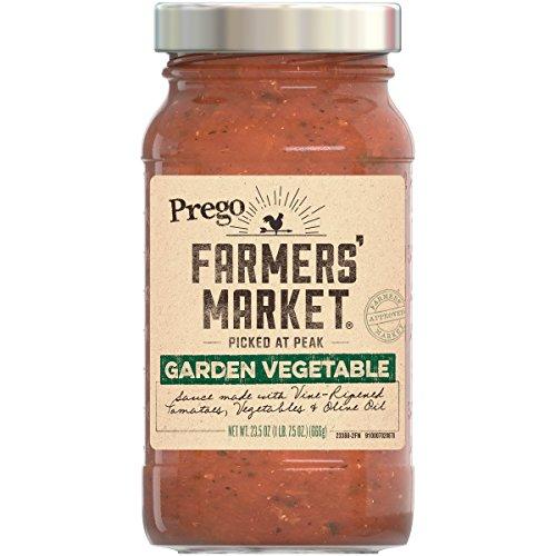 Prego Roasted Sauce (Prego Farmers Market Sauce, Garden Vegetable, 23.5 Ounce (Pack of 6))