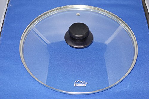 Germany Stoneline 28cm (11.2 inch) deluxe temper proof glass lid - Will fit other brands also