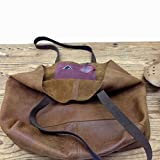 Soft Leather Hobo Tote bag Slouchy Handmade Women's Shoulder Purse Brown