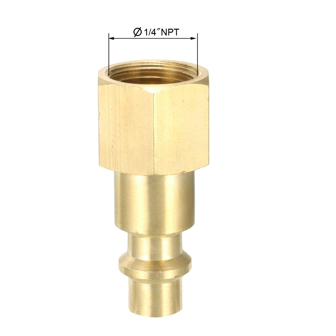 uxcell Brass Pipe Fitting Pack of 10 1//4 NPT x 1//4 NPT Male Pipe 1//4 NPT x 1//4 NPT Male Pipe Hex Nipple