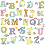RoomMates RMK2334SCS Animal Alphabet Dena Designs Peel and Stick Wall Decals