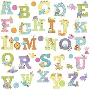 Roommates rmk2334scs alfabeto animal dena dise os y for Amazon decoracion pared