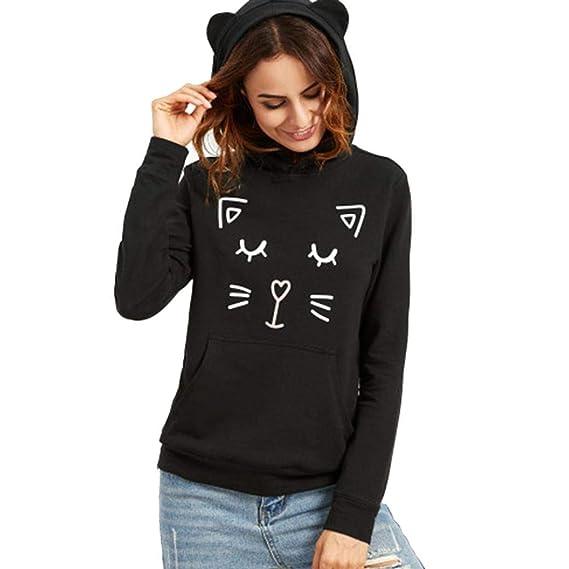 bda1f782ed0 Naturazy 2019 Hoodie Pullover Modelos De Blusitas Blusas Femeninas Blusa  con Manga Larga Estampada con Capucha
