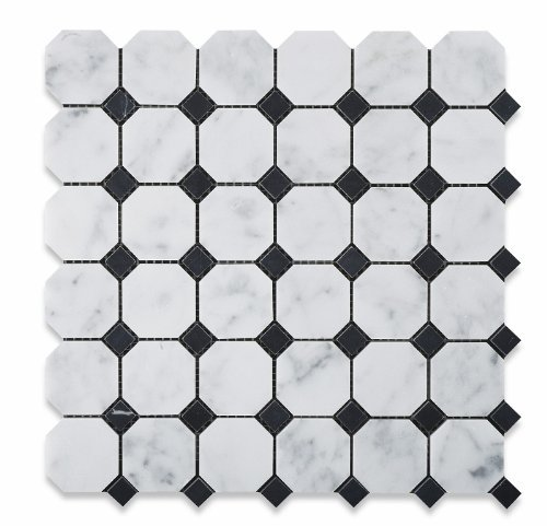 bianco-carrara-white-marble-honed-octagon-mosaic-tile-with-black-dots-box-of-5-sq-ft-by-oracle-moldi