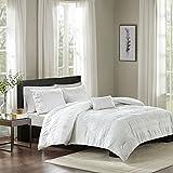 Nicolette 4 Piece Cotton Seersucker Comforter Set White King/Cal King