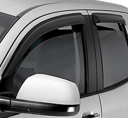 Gts Side Window Deflectors (HS Power Sun/Rain Guard Smoke Vent Shade Deflector Window Visor 05-10 Jeep Grand Cherokee)