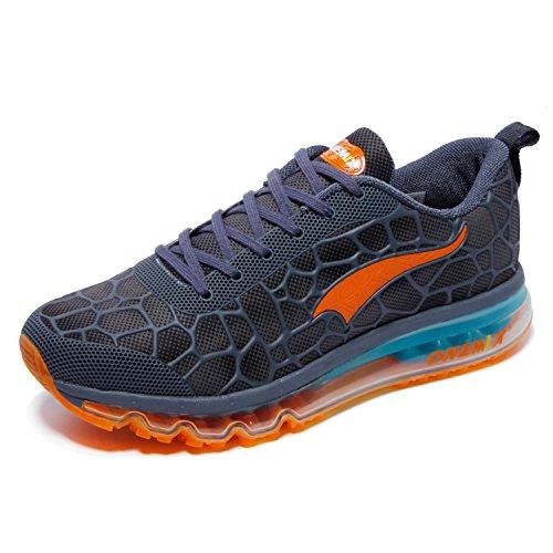 OneMix Herren Laufschuhe Air Cushion Sportschuhe Leicht Turnschuhe Gute Qualität Sneaker Schwarz Rot Grün Blau See blau / Orange