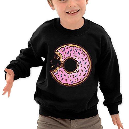 Puppylol Sweet Donuts Kids Classic Crew-neck Pullover Sweatshirt Black 5-6 Toddler
