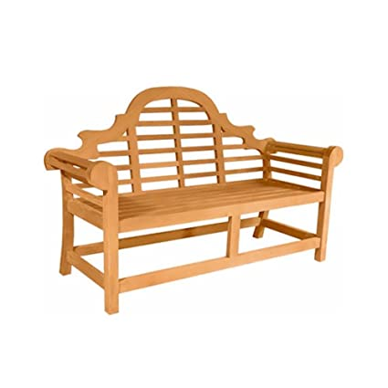 Pleasant Amazon Com Marlborough Teak Garden Bench Fabric Without Machost Co Dining Chair Design Ideas Machostcouk
