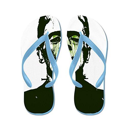 new styles 17e4f ad0f3 Cafepress Franky - Flip Flops, Roliga Rem Sandaler, Strand Sandaler  Caribbean Blue