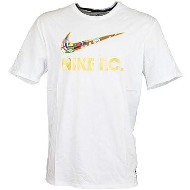 super popular ced4a 7fc71 Nike F.C. para Hombre Camiseta de fútbol de la Bandera de Swoosh - Multi -  Small Amazon.es Ropa y accesorios