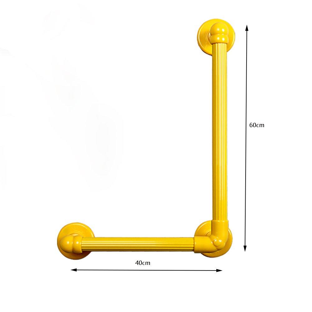 手すり浴槽バスタブ滑り止め安全ハンドレール白ポリアミドL形白 ( サイズ さいず : 60+40cm ) B07CNYV5K1   60+40cm