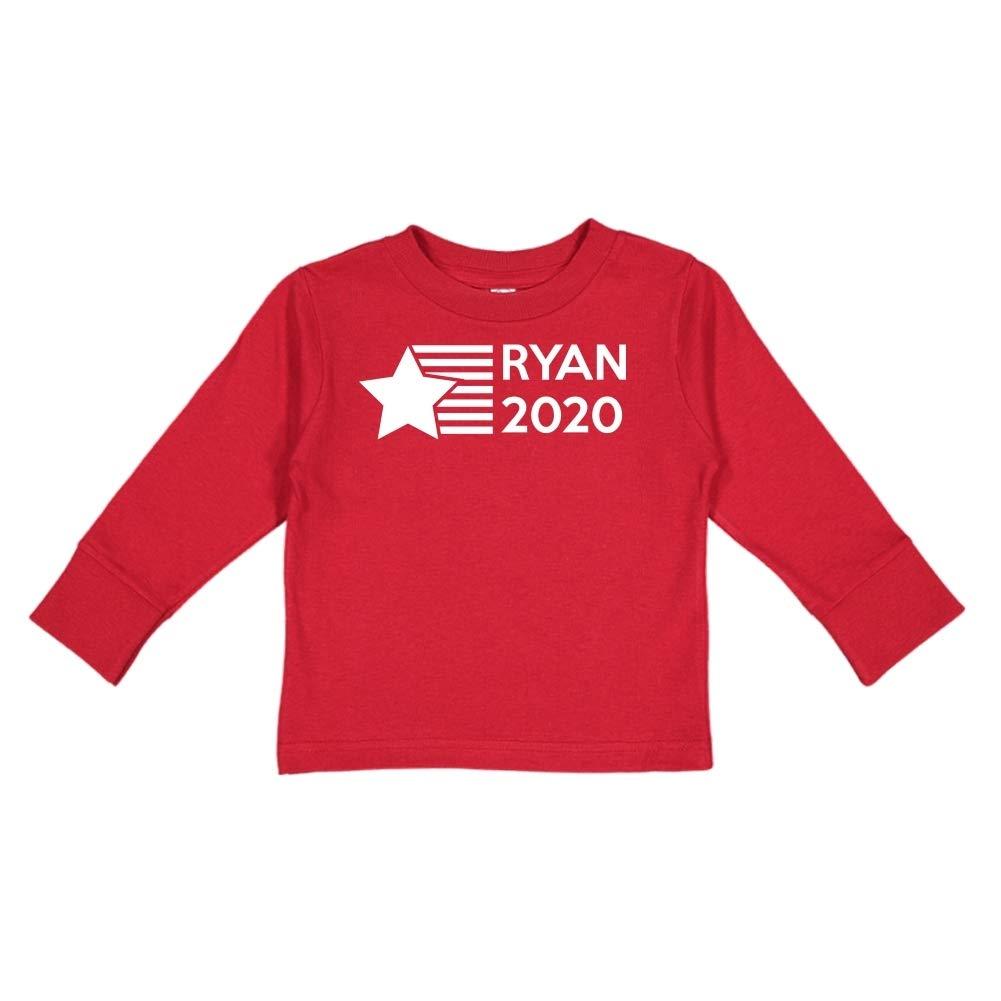Presidential Election 2020 Toddler//Kids Long Sleeve T-Shirt Star//Stripes Mashed Clothing Ryan 2020