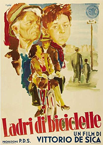 Bicycle Thieves Poster Movie Italian (27 x 40 Inches - 69cm x 102cm)