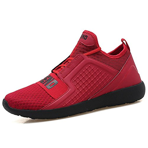 Viaje EU Malla Casuales Zapatos New Primavera Zapatos Deporte para Rojo para Deporte Verano Transpirable Size Hombre de Correr Ligero Otoño Comfort de de de Zapatillas Zapatos OqxqnwgBI