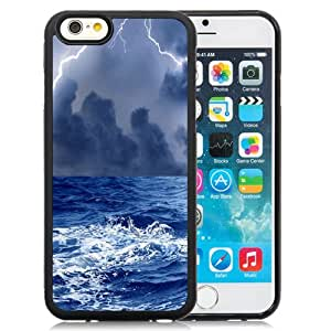Beautiful Unique Designed iPhone 6 4.7 Inch TPU Phone Case With Thunderstorm At Sea_Black Phone Case
