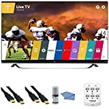 LG 65UF8500 - 65-Inch 2160p 240Hz 3D 4K Ultra HD LED UHD Smart TV WebOS +Hookup Kit - Includes TV, 6 Outlet Wall Tap Surge Protector with Dual 2.1A USB Ports, HDMI to HDMI Cable 6' and Cleaning Kit