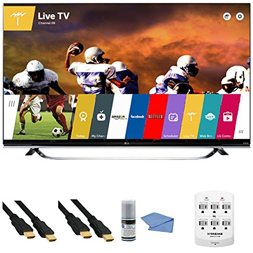 LG 65UF8500 - 65-Inch 2160p 240Hz 3D 4K Ultra HD LED UHD Smart TV WebOS +Hookup Kit - Includes TV, 6 Outlet Wall Tap Surge Protector with Dual 2.1A USB Ports, HDMI to HDMI Cable 6' and Cleaning Kit review