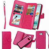 LG G4 Case,LG G4 Detachable Wallet Case,Soundmae Multi-function 2-in-1 Magnetic Separable Removable PU Leather Wallet Case Flip Cover With Credit Card Holder for LG G4[Rose Red]