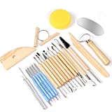 Ejiubas 24 Pcs Sculpting Clay Tools Pottery Sculpture Stylus Tools Ceramic Modeling Tool Set for Both Beginners Professional Art Crafts Gift Set
