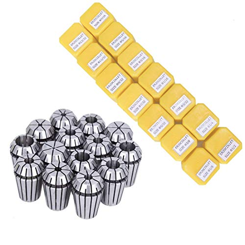 SILIVN ER20 Spring Collet Set for CNC Engraving Machine and Milling Lathe Tool Workholding Engraving Collets(14PCS)