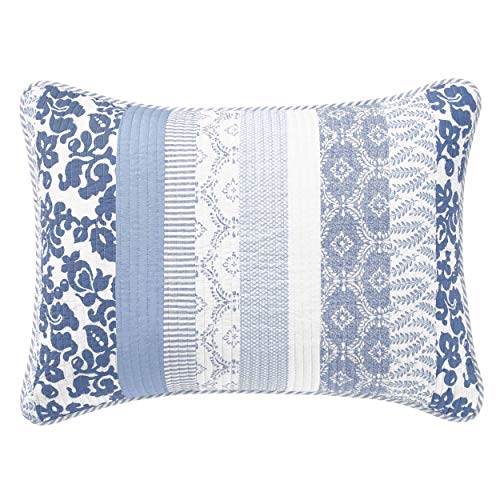 Laura Ashley Evelyn Sham, Standard, Medium Blue