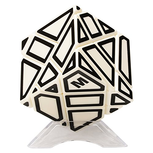 Twister.CK 3X3X3 Abnormity Cube Ghost Cube,3x3 Ghost Cube Puzzle with black Sticker,Speed Cube Puzzle New with Hollow out Stickers,Best Speed Cube Puzzle in the World,Brain Teasers for All Ages.