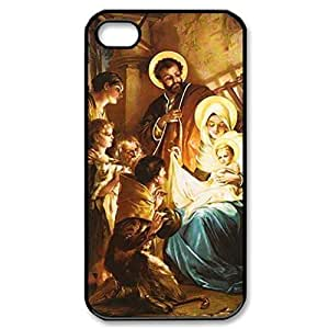 Christmas Nativity Baby Jesus pattern Image 4 Case Cover Hard Plastic Case tive Iphone 4s / Iphone for Iphone 5cprotec