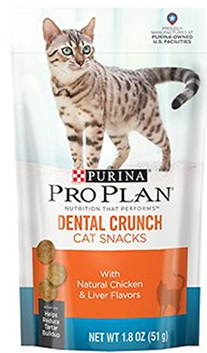 Pro Plan Dental Crunch Chicken & Liver Cat Treats, 1.8 oz.