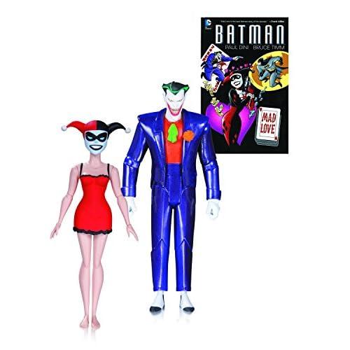 DC Comics Aug150311Batman Série animée le Joker et Harley Quinn Mad Love livre et d'action figure (lot de 2)