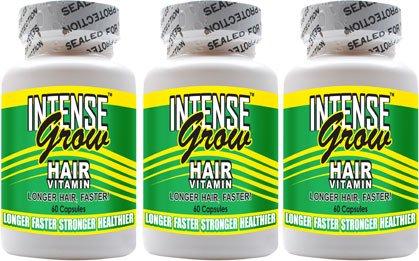 Les vitamines croissance des cheveux longs - Grow Intense 3-Pack