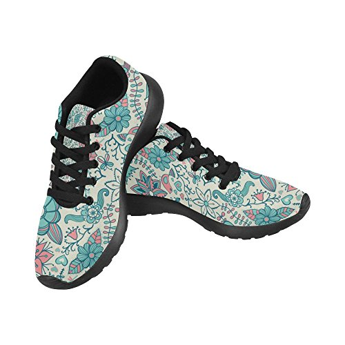 red Shoes 36 Zenzzle Pattern Sneakers Color13 Print Retro Flowers Running Size on Womens Casual Athletic Licence Lightweight Purple 45 Plates Auto EtgAgwq