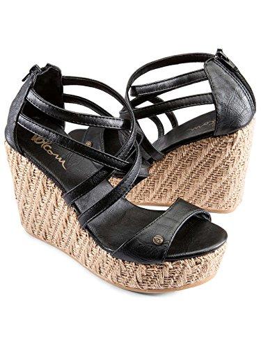 Damen Sandalen Volcom Getting Around Sandals Women Vintage black