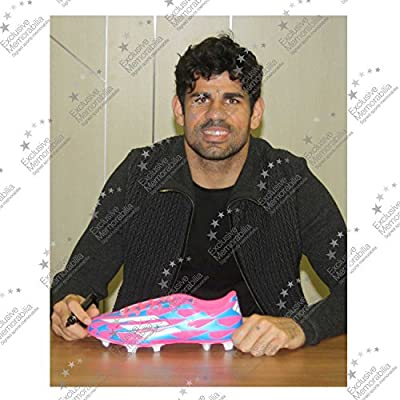 Diego Costa Signed Football Shoe In Display Case | Autographed Soccer Cleat