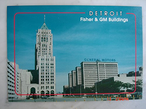 - General Motors and Fisher Buildings Detroit Michigan Vintage Post Cards