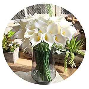 1PC PU Real Touch Calla Lily Artificial Flower Begonia Home Wedding Party Decoration Fake Flower Farmhouse Home Decor 78